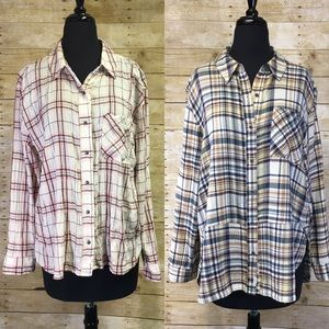 Bundle Of Two Melrose and Market Button Up Shirts